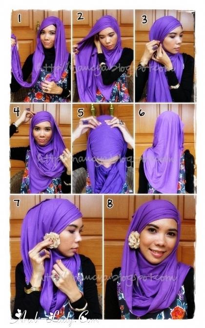 تعلمي بالصور الحجاب بأشكال متعدده