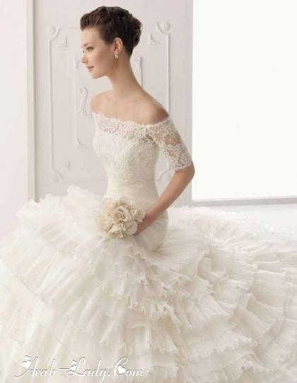 طلة رومانسية جذابة مع فساتين الزفاف