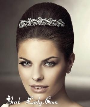 أجمل الأكسسوارات الناعمه لشعر العروس