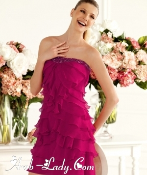 تألقي بفساتين سهره باللون الفوشي في هذا الصيف