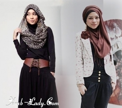 مجموعة أزياء لمحجبة أنيقة متألقة