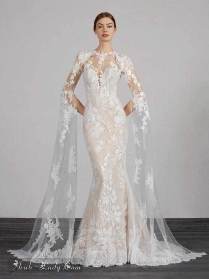 3e09d30f2 تشكيلة من فساتين الزفاف بأكمام طويلة موضة 2019 - مجلة المرأة العربية